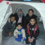 Heba's kids in the tent!